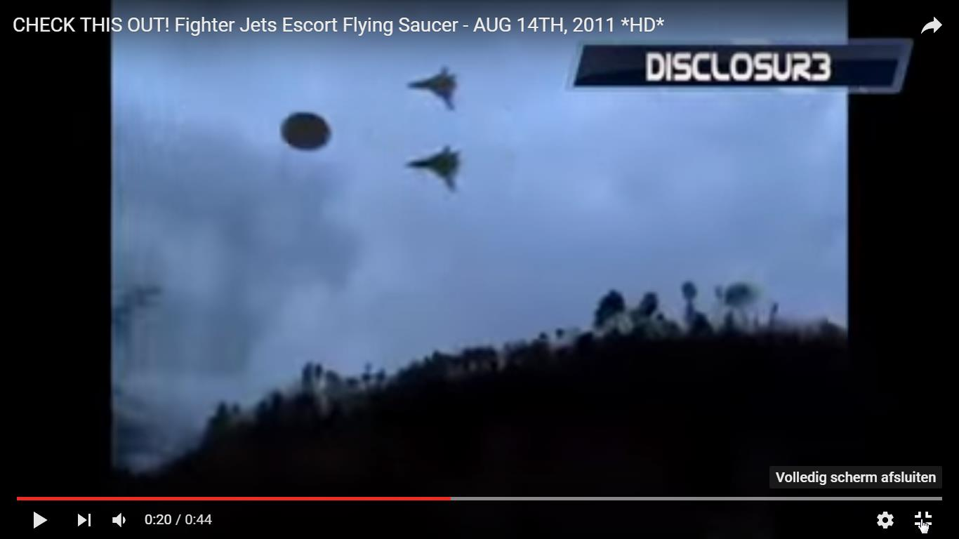 Fighter Jets Escort Flying Saucer