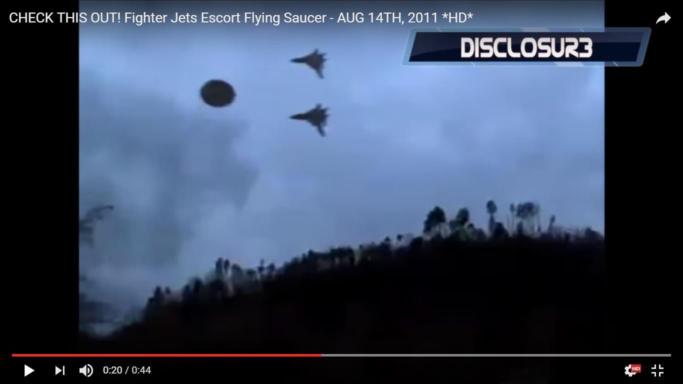 Fighter Jets Escort Flying Saucer_