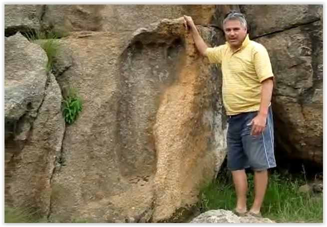 Giant Foot Print 200 Million Yrs Old – South Africa
