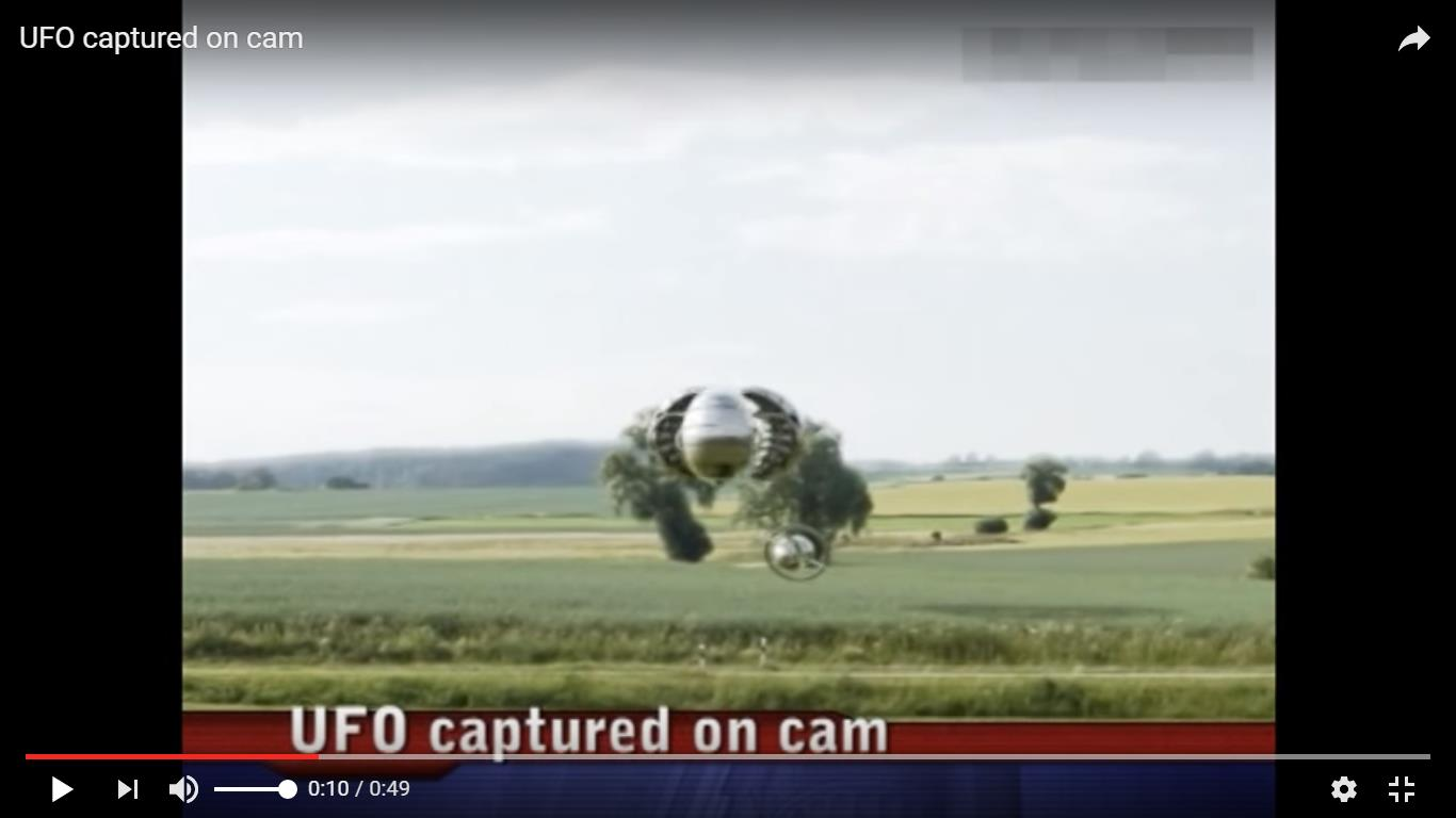 UFO captured on cam