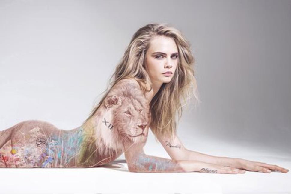 Tattoo op het etherische lichaam.