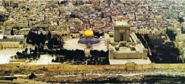De derde Tempel naast de Rotskoepel