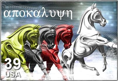 Het witte paard en de drie paarden van Armageddon