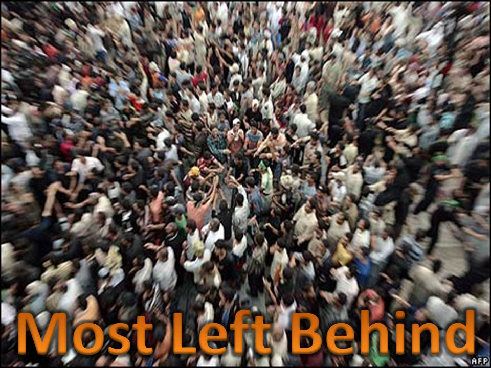Most left behind